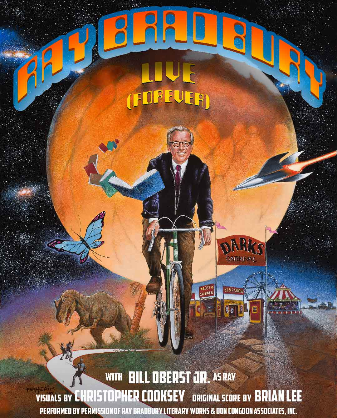 Ray Bradbury Live (forever) theatre show poster